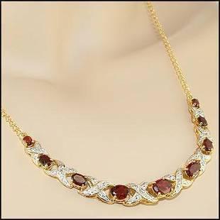 519 CT Garnet Diamond Designer Necklace 1500
