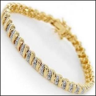 039 CT Designer 18KGP Diamond Bracelet 1600