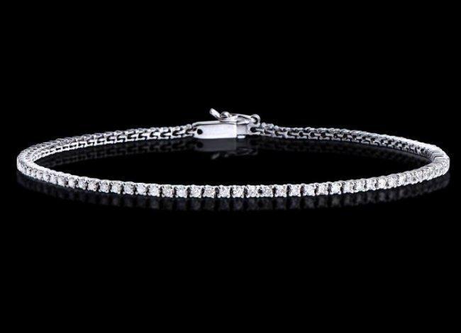 1.12 Cts Tennis Diamond Designer Gold Bracelet $15,850!