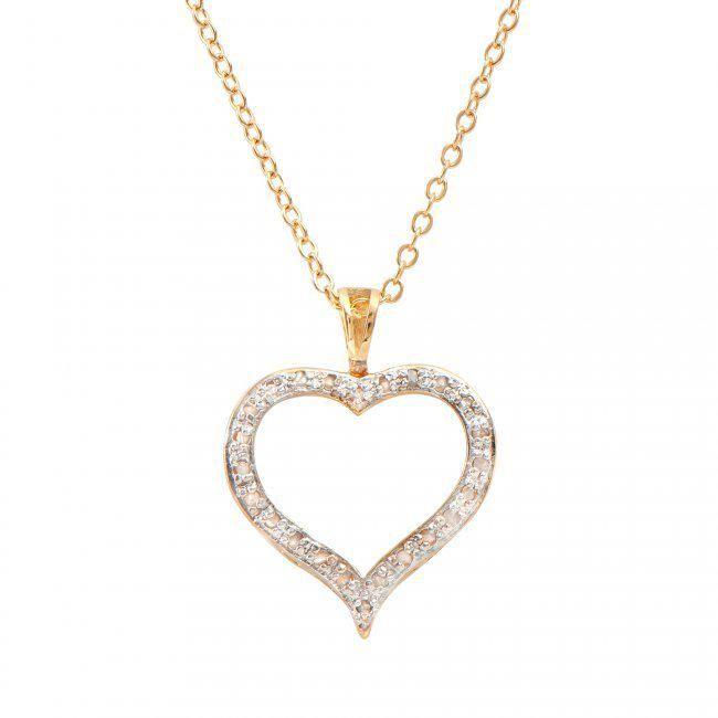 0.18 CT Diamond Heart Designer Necklace $1,255