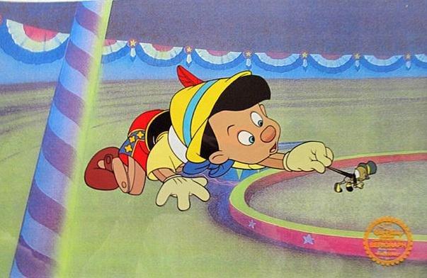 "Walt Disney ""Pinocchio"" Serigraph Cel"