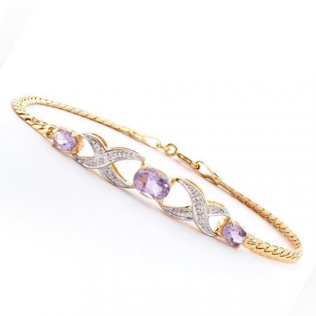 1.80 ctw Amethyst & Diamond Designer Bracelet $895