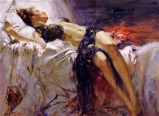 "Pino ""MORNING DREAMS"" Ltd Ed. Giclee on Canvas"