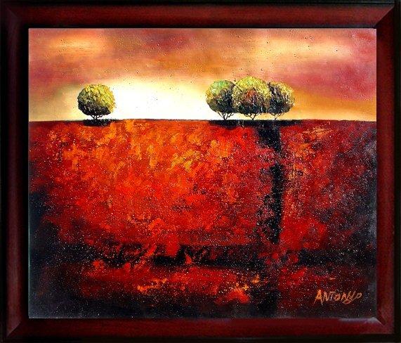 6: Framed Hand Signed Oil Painting Eternal Landscape