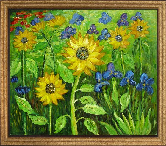 7: Framed Hand Signed Oil Painting Spring Symphony