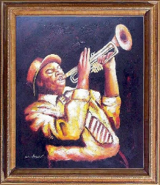 10: Framed Hand Signed Oil Painting Jazz it up