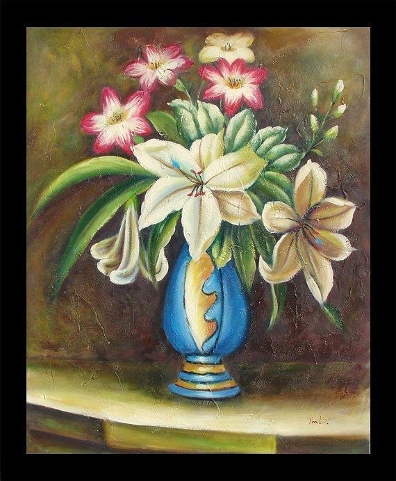 11: Framed Hand Signed Oil Painting Summer Blossom