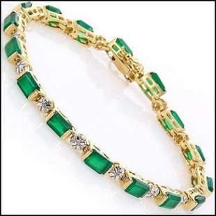 9.79 CT Green Agate & Diamond Designer Bracelet $1405