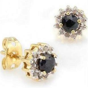 0.64 Cts Sapphire & Diamond Designer Earrings $775
