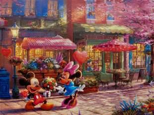 Thomas Kinkade Disney MICKEY MINNIE MOUSE SWEETHEART