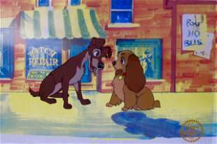 DISNEY LADY AND THE TRAMP Animation Art Sericel