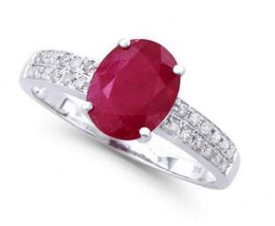 2.76 Ct Certified Ruby & Diamond 14k Gold Ring $12,550!