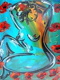 5: Floral Nude Original Acrylic Mark Kazav