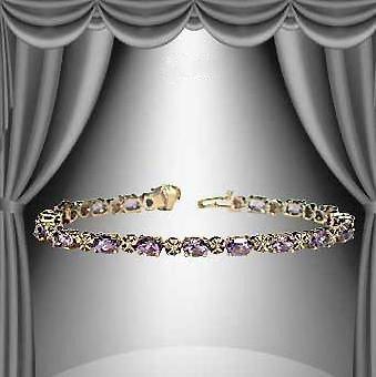 5: 8 CT Amethyst Diamond Bracelet  Fine Jewelry