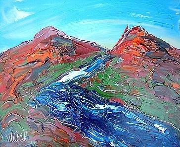 6: Blue River Original Acrylic Mark Kazav