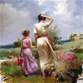 "Pino ""TUSCAN STROLL"" Ltd Ed. Giclee on Canvas"