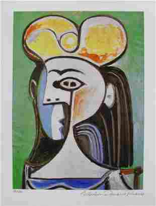 Picasso GIRL WITH BLACK HAIR Estate Signed Giclee