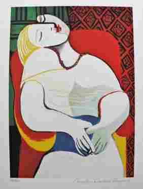 Pablo Picasso THE DREAM Estate Signed Ltd Ed Giclee