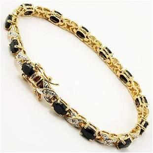 12.09 CT Sapphire & Diamond Designer Bracelet $1,350