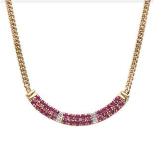 2.28 CT Ruby & Diamond Designer Necklace $1,650