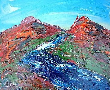 6: Blue River Original Acrylic Mark Kazav