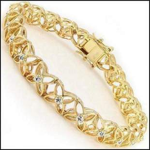 0.15 Cts Diamond Designer 18KGP Bracelet $1,570