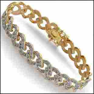0.75 CT Diamond 18KGP Designer Bracelet $1,870!
