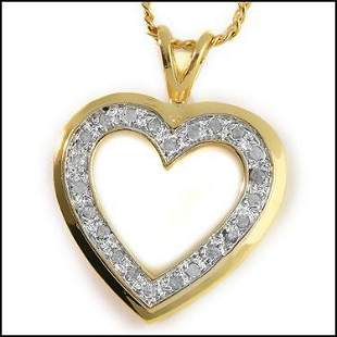 0.18 CtHeart Shape for ever Love Diamond Necklace $925