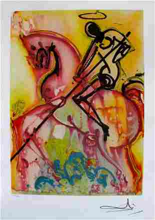 "Dali Ltd Ed. Lithograph ""ST. GEORGE AND THE DRAGON"""