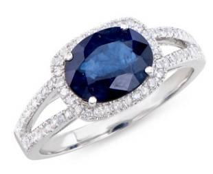 2.40 Ct Certified Sapphire & Diamond Ring $8,025.00!