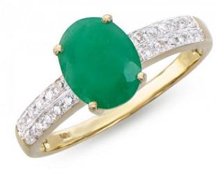 2.35 Cts Certified Emerald & Diamond Ring $11,125
