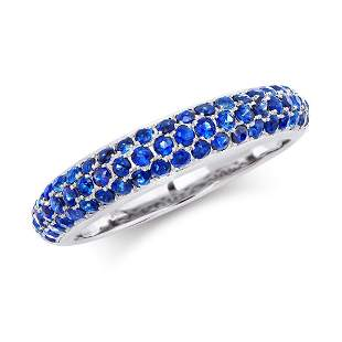 1.15 Cts Certified Blue Sapphire Designer Gold Ring