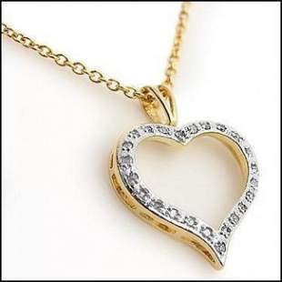 0.18 CT Diamond Heart Designer Necklace $775!