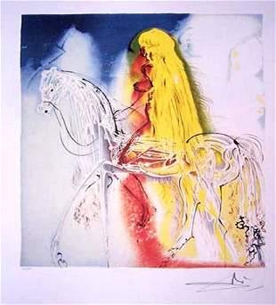 Salvador Dali Lithograph Lady Godiva