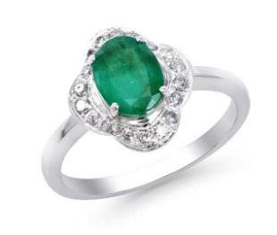 1.70 Ct Certified Emerald & Diamond Ring $7,700.00!