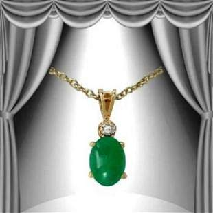 1.06 Cts Emerald & Diamond Designer Necklace $915