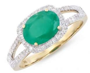 1.77 Ct Certified Emerald & Diamond Ring $7,950.00!