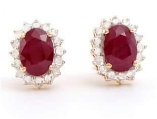 2.65 Ct Certified Emerald & Diamond Earrings $5,800.00!