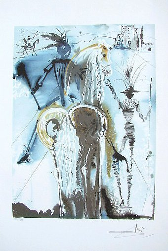 291: Salvador Dali Signed Numbered Lithograph Don Quich
