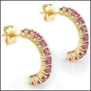 3.38 CT Rubies Designer Earrings $880