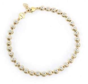 0.25 Cts Diamond 18KGP Designer Bracelet