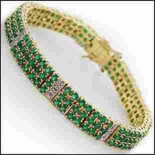 6.20 CT Green Agate & Diamond Designer Bracelet $2,200
