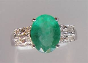Emerald and Diamond Ring - Appraised at $11,725