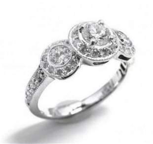 1.24 Ct Certified Diamond 14K Designer Ring $15,600!