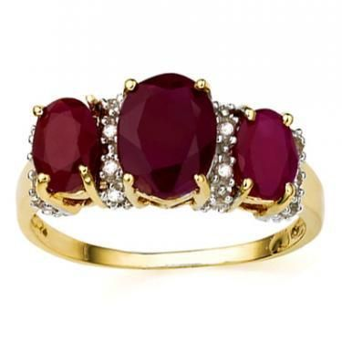 3.07 Cts Certified Ruby & Diamond Gold Ring $$4,205.00!