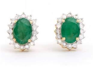 1.65 Ct Certified Emerald & Diamond Earrings $5,850.00!