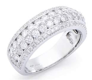 1.42 Ct Certified Diamond 14K Designer Gold Ring List