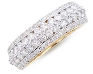 1.34 Ct Certified Diamond 14K Designer Gold Ring List