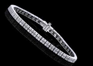 2.38 Ct Certified Diamond 14K Designer Gold Tennis