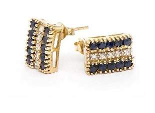 3.87 CT Sapphire & Diamond Designer Earrings $1,120